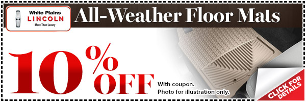Lincoln All-Weather Floor Mats Parts Special serving White Plains, New York