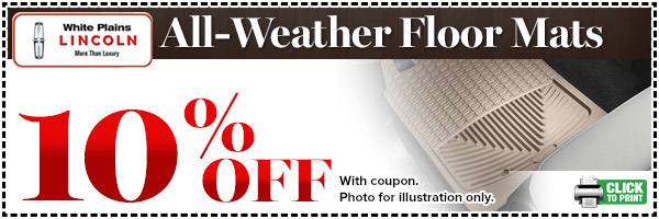 Lincoln All-Weather Floor Mats Special serving White Plains, New York