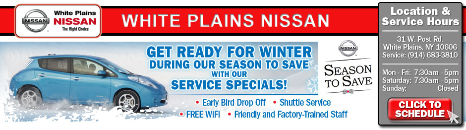 Westchester Nissan Service Specials serving New York