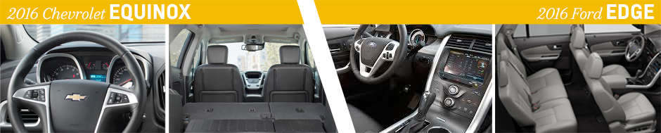 Chevrolet Equinox Vs  Ford Edge Interior Design Model Comparison