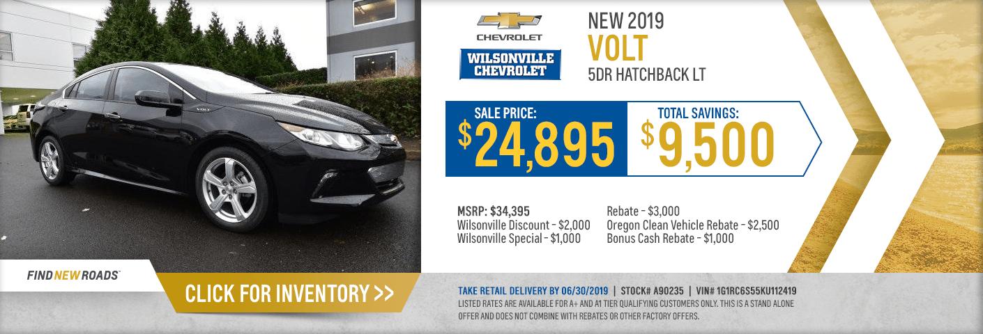 Chevy Volt Lease Cost >> New 2019 Chevrolet Volt Discount Sales Specials Wilsonville Oregon