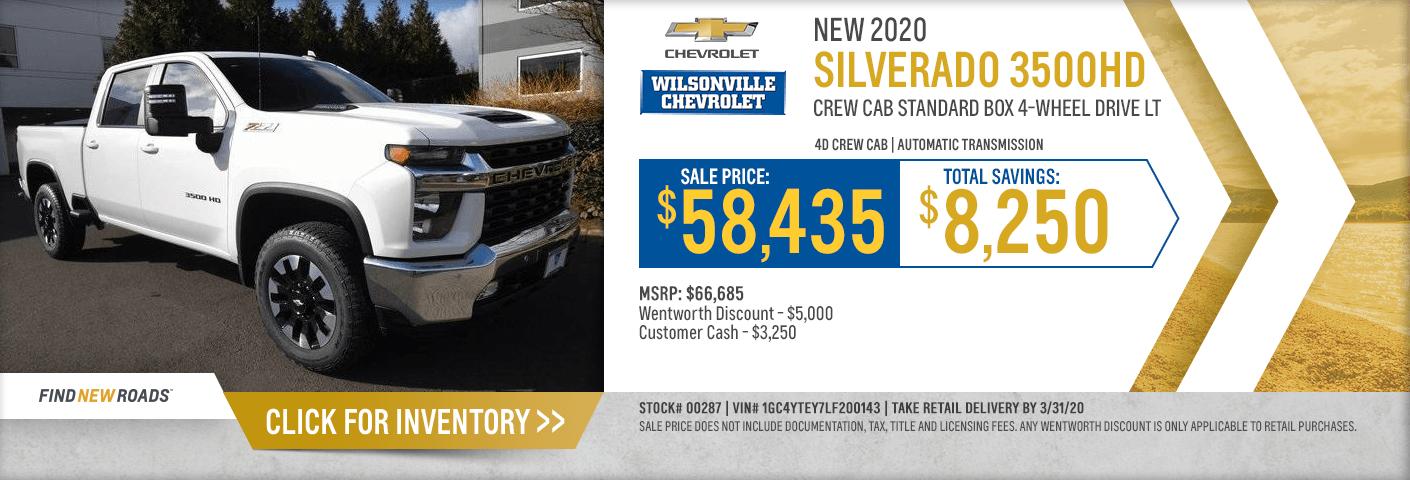 New Chevrolet Silverado 3500 Hd Sale Lease Offers In Wilsonville