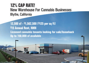 New Warehouse Space for Sale or Lease Approved for Cannabis Businesses.