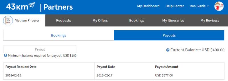 Partner Payout
