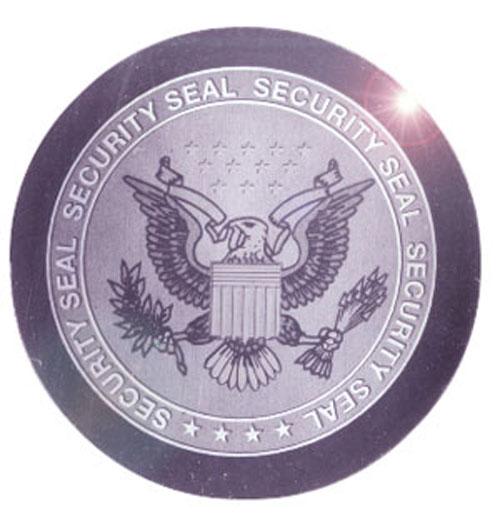 Round Federal Eagle Foil Hologram
