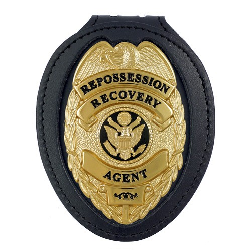 Deluxe Recessed Badge Backer with Oval Shield Cuotout