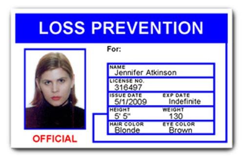 Loss Prevention PVC ID Card