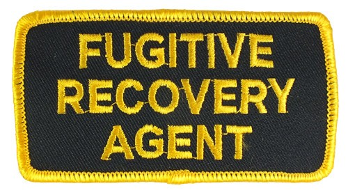 Fugitive Recovery Agent Hat or Jacket Patch (Gold on Black)