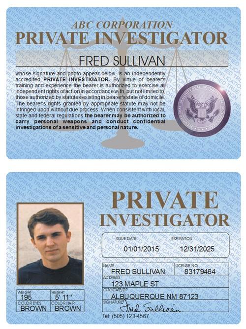 Private Investigator Standard Folio