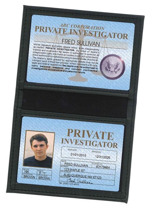 Private Investigator Standard Folio in Case
