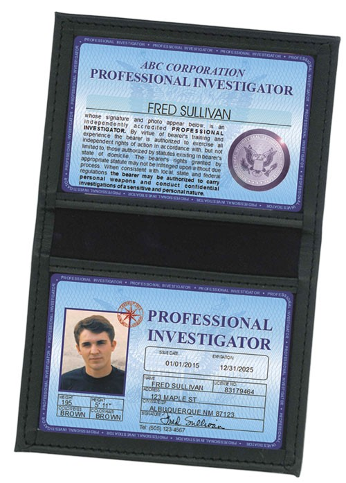 Professional Investigator Deluxe Folio in Case