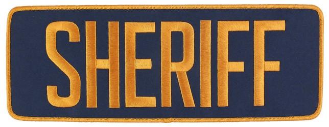 Large Velcro Sheriff Patch (Gold on Navy)