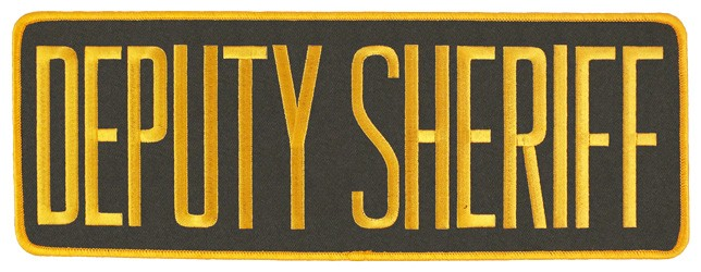 Large Velcro Deputy Sheriff Patch (Gold on Brown)
