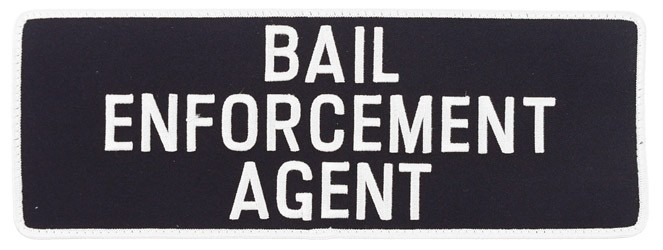 Large Velcro Bail Enforcement Agent Patch in White