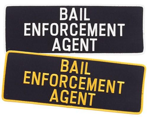 Large Velcro Bail Enforcement Agent Patch