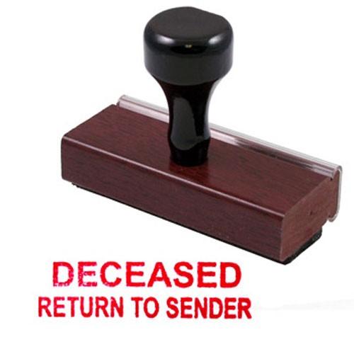 Deceased Rubber Stamp