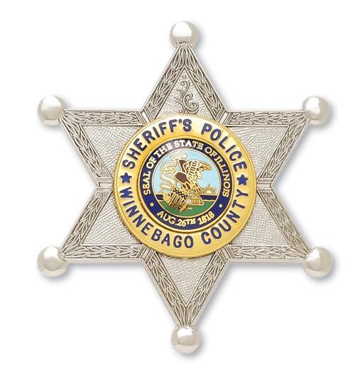 2.61 inch 6 Point Star Smith & Warren Sheriff Badge S531