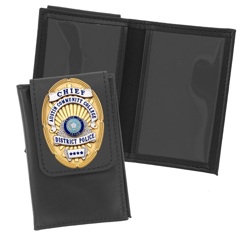 Thin Line Double ID Case with Badge Flap