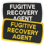 Fugitive Recovery Agent Hat or Jacket Patch