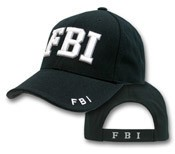 Deluxe FBI White Embroidered Hat