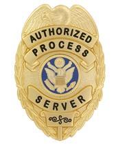 Process Server Eagle Top Badge