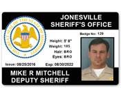 Sheriff's Department PVC ID Card