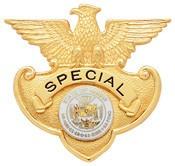 2.16 inch Eagle Top Smith & Warren Hat Badge S166