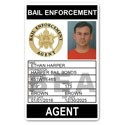 Bail Enforcement Agent PVC ID Card BFP014