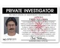Private Investigator PVC ID Card C11PVC