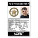 Fugitive Recovery Agent PVC ID Card C502PVC