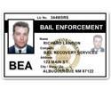 Bail Enforcement PVC ID Card C513PVC