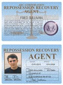 Repossession Recovery Agent Standard Folio