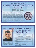 Fugitive Enforcement Agent Deluxe Folio