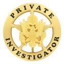 Private Investigator Badge (Gold)