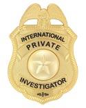 International Private Investigator Badge