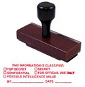 This Information Is Classified Rubber Stamp