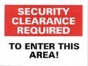 Security Clearance Required Sticker 10-pack