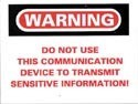 Do Not Use This Communication Device... Sticker 10-pack