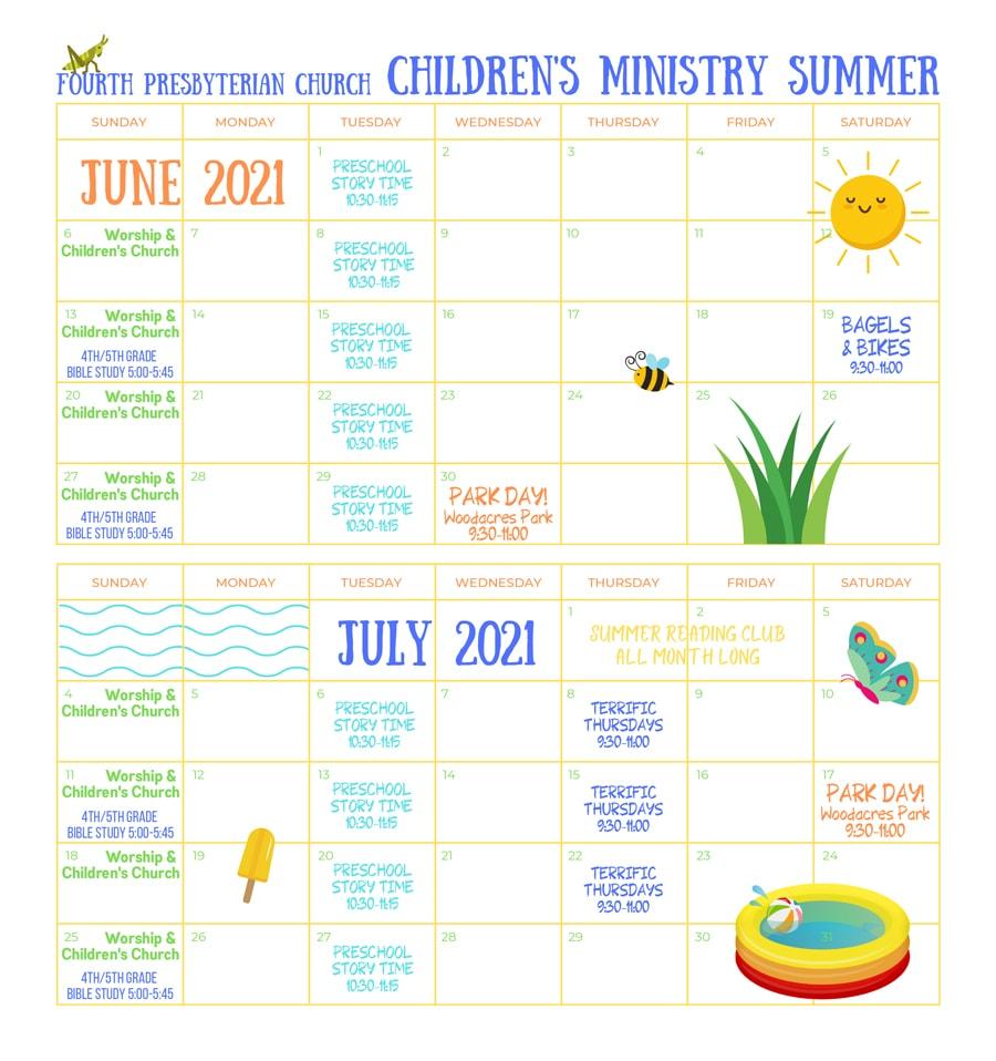 summer calendar image