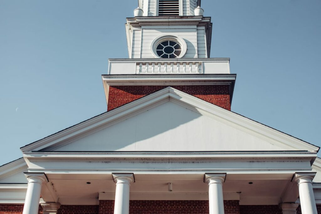 church edifice, front