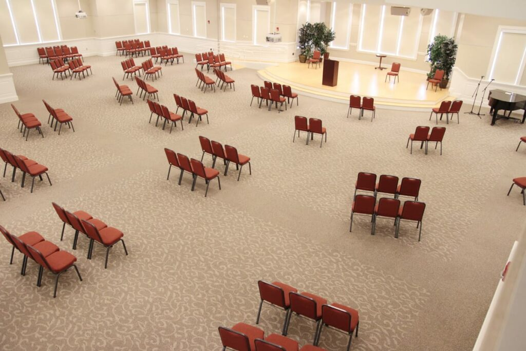 Upper Room seating layout
