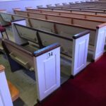 pews of different colors