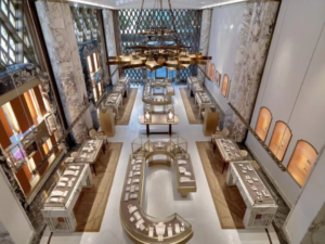 0e3854dce3121 The new Peter Marino-designed store features a door that is a reproduction  of the Baroque Via Condotti door from 1930 and is arguably the structural  jewel ...