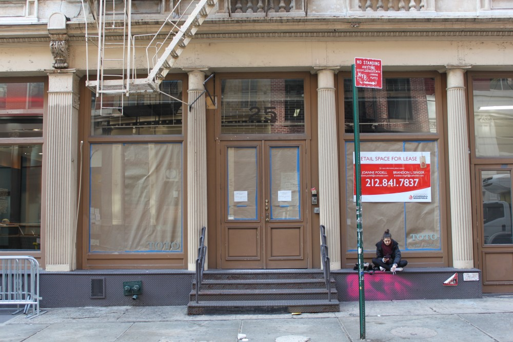 Retail location: 25 Mercer St New York, NY 10013 on 4URSPACE Available
