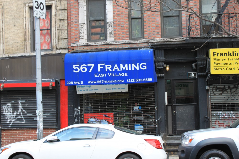 567 Framing 228 Ave B New York, NY 10009 on 4URSPACE retail profile