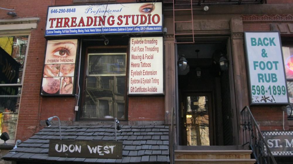 Professional Threading Studio 11 St  Marks Place New York