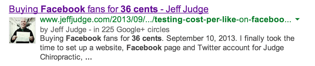 Google Authorship = Google+ profile attribution in Google search results