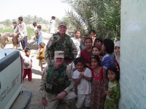 Chaplain Gilleran in Iraq
