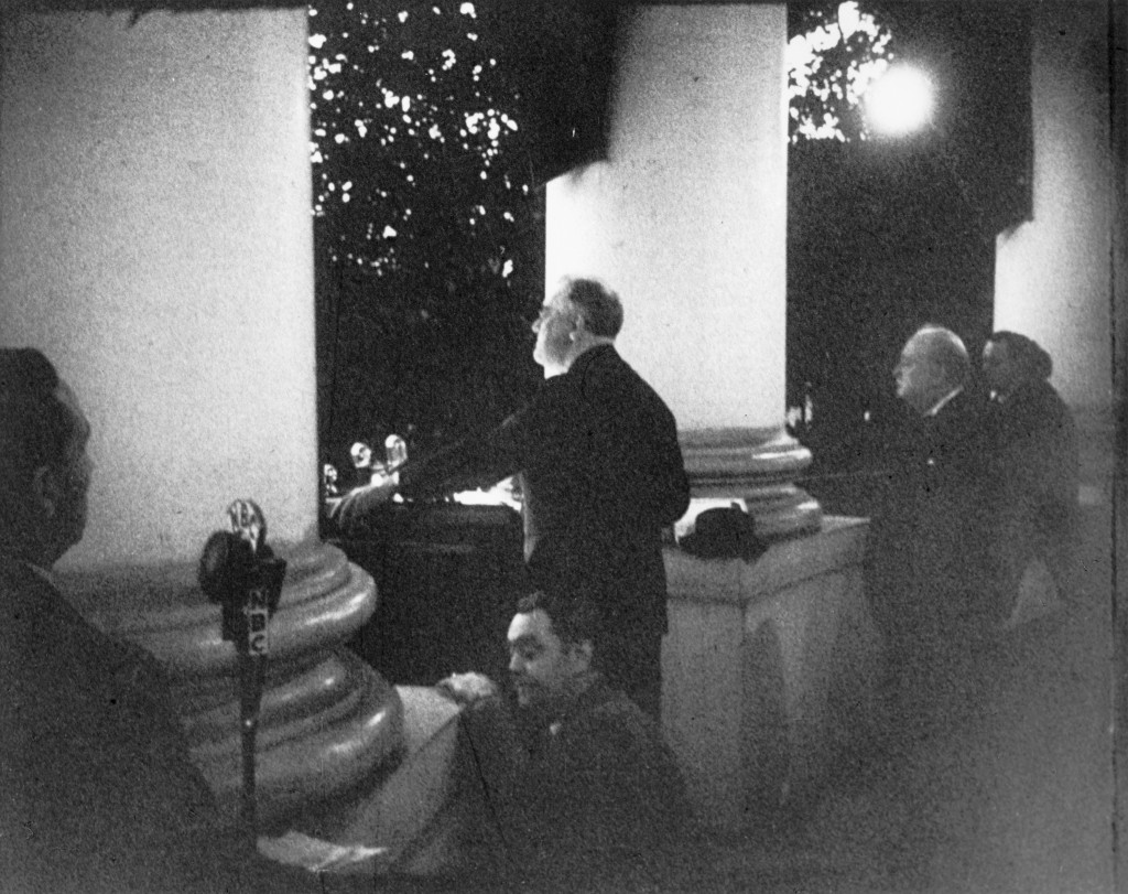 FDR and Churchill address the American nation on Christmas Eve 1941.