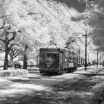 Streetcar, St. Charles Avenue, New Orleans, Louisiana. Source: public domain.